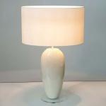Holländer 039 K 1263 Tischleuchte Tenello Keramik-Plexiglas Creme-Klar