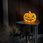Konstsmide 6138-103 LED Halloween Dekolichterkette Kürbis Timer batteriebetrieben