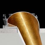 Panzeri Manhatten Einbauprofil für LED-Strips 192cm Blattgold