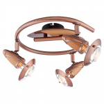 Globo 5436-3 Lord / Spirale Kupfer Buche 3x40W E14 R50