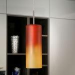 Eglo 83202 Troy 1 Hängeleuchte Ø 10, 5cm Rot-Orange Nickel-Matt