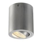SLV Triledo Round CL AufbauDownlight Alu-Gebürstet LED 6W 38° 3000K inkl. Treiber 113936