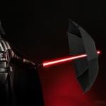 Lichtschwert LED Regenschirm / 7 Farben / Ø 108 cm / schwarz Laserschwert RGB