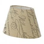 Eglo 49986 1+1 Vintage Lampenschirm 25 x 16cm bedruckt Beige Braun