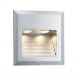 Paulmann Special EBL Set Quadro Wand LED 2W 3VA 230V 10x10cm Alu gebürstet/Alu