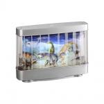 LeuchtenDirekt 85209-70 Dino LED Kinderzimmerlampe Dinosaurier 6500K Silberfarben