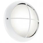 Eglo 96341 Siones 1 LED Aussen-Wandleuchte mit Struktur Ø 26cm 850lm Weiss