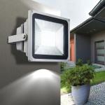 LED-Fluter / 30W Strahler / 2.800 lm / 6.000 K / silber / Aussenstrahler
