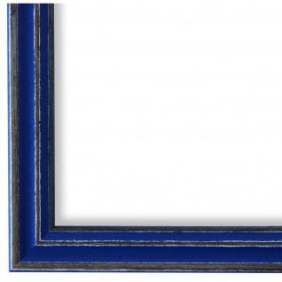 Bilderrahmen Blau Antik Holz Cosenza 2, 0 - DIN A2 - DIN A3 - DIN A4 - DIN A5