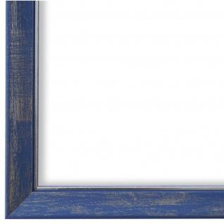Bilderrahmen hell Blau Silber Vintage Retro Holz Frosinone 1, 8 - NEU alle Größen