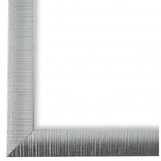 Bilderrahmen Silber Weiss Sorrento 2, 5 - DIN A2 - DIN A3 - DIN A4 - DIN A5