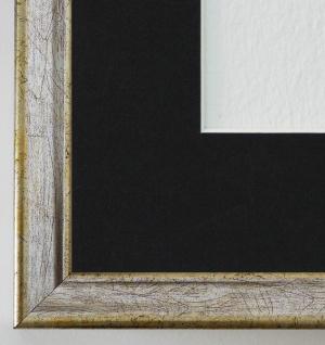 Bilderrahmen Kiel in Silber mit Passepartout in Schwarz 2, 3 Top Qualität