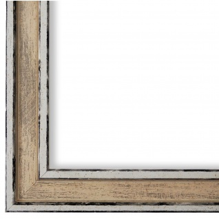 Bilderrahmen Creme Retro Shabby Holz Lugnano 2, 8 - NEU alle Größen