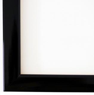 Bilderrahmen Schwarz Lack Modern Rahmen Art Deco Hannover 2, 4 - alle Größen NEU