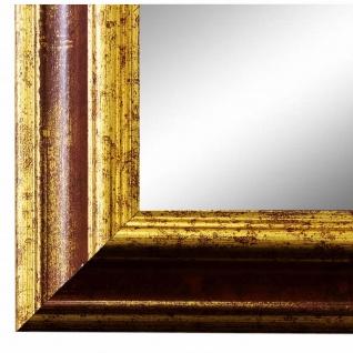 Wandspiegel Spiegel Rot Gold Vintage Retro Holz Bari 4, 4 - NEU alle Größen