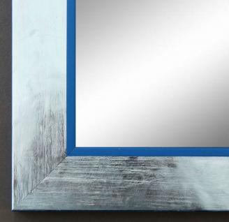 Spiegel Wandspiegel Badspiegel Flur Garderobe Modern Lecce Silber Blau 3, 9