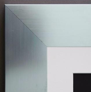Bilderrahmen Novara in Silber Shabby mit Passepartout in Weiss 7, 0 - alle Größen