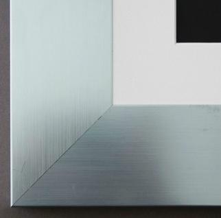 Bilderrahmen Novara in Silber mit Passepartout in Weiss 7, 0 - NEU alle Größen