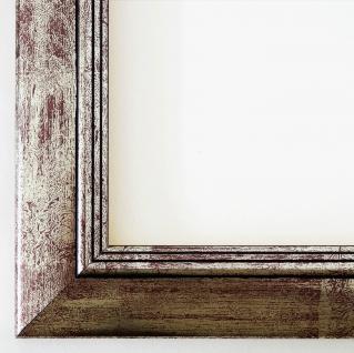 Bilderrahmen Silber Antik Barock Holz Modern Art Deco Frankfurt 3, 5 mit Glas