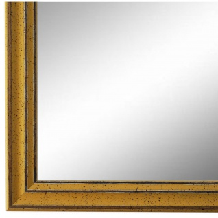 Wandspiegel Spiegel Gelb Antik Shabby Holz Cosenza 1, 9 - NEU alle Größen