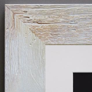Bilderrahmen Capri in Beige Rustikal mit Passepartout in Weiss 5, 8 - alle Größen
