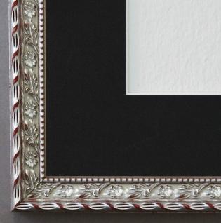 Bilderrahmen Brescia in Silber mit Passepartout in Schwarz 2, 0 Top Qualität