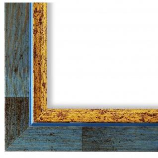 Bilderrahmen hell Blau Retro Vintage Holz Catanzaro 3, 9 - NEU alle Größen