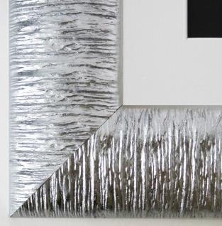 Bilderrahmen Rostock in Silber mit Passepartout in Weiss 7, 2 - Top Qualität