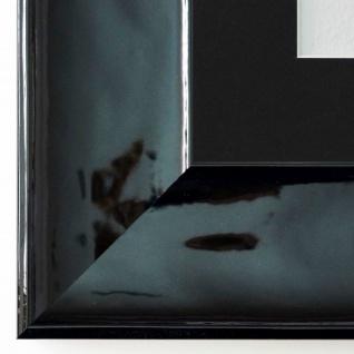 Bilderrahmen Taranto Schwarz Lack mit Passepartout in Schwarz 7, 5 Top Qualität