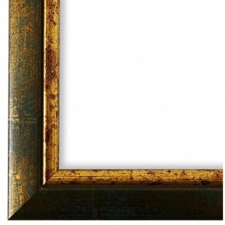 Bilderrahmen Grün Gold Retro Vintage Holz Perugia 3, 0 - 40x60 50x50 50x60 60x60