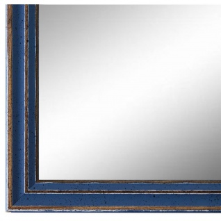 Wandspiegel Spiegel hell Blau Antik Shabby Holz Cosenza 1, 9 - NEU alle Größen