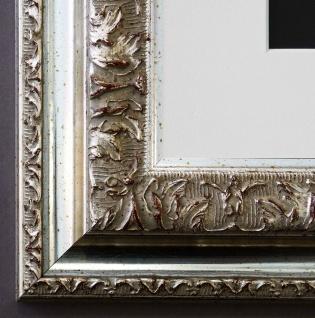 Bilderrahmen Rom in Silber mit Passepartout in Weiss 6, 5 - NEU alle Größen