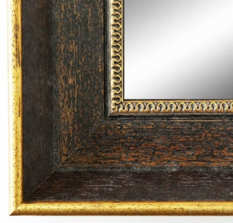 Wandspiegel dunkel Braun Gold Monza Antik Barock 6, 7 - alle Größen
