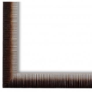 Bilderrahmen Braun Silber Holz Sorrento 2, 5 - DIN A2 - DIN A3 - DIN A4 - DIN A5
