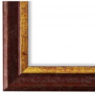 Bilderrahmen Rot Gold Vintage Retro Holz Forli 3, 7 - NEU alle Größen