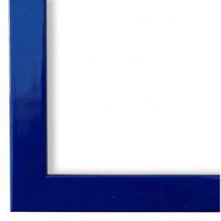 Bilderrahmen Blau Lack Modern Holz Como 2, 0 - NEU alle Größen