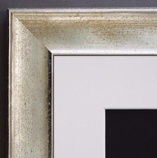 Bilderrahmen Matera in Silber Modern mit Passepartout in Weiss 3, 9 - alle Größen