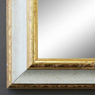 Wandspiegel Weiss Gold Genua Antik Barock 4, 2 - alle Größen