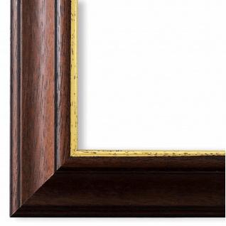 Bilderrahmen Braun Gold Vintage Retro Holz Genua 4, 3 - NEU alle Größen