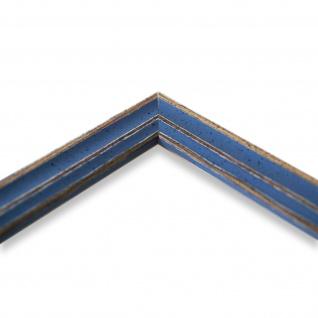 Bilderrahmen hell Blau Antik Shabby Holz Cosenza 2, 0 - 40x60 50x50 50x60 60x60 - Vorschau 4