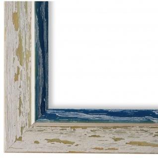 Bilderrahmen Beige Blau Retro Vintage Holz Catanzaro 3, 9 - NEU alle Größen