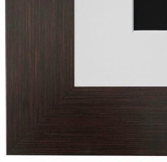 Bilderrahmen Essen Braun Struktur rmit Passepartout in Weiss 6, 0 Top Qualität
