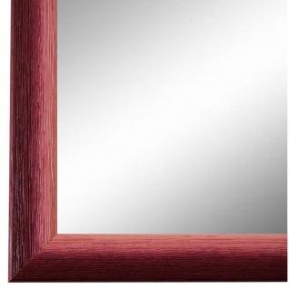 Wandspiegel Spiegel Rot Retro Vintage Holz Pinerolo 2, 3 - NEU alle Größen