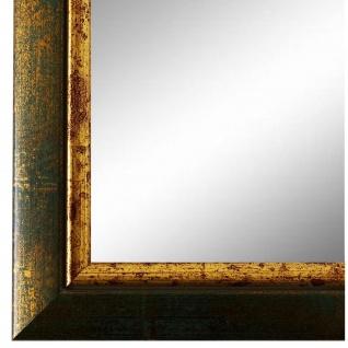 Wandspiegel Spiegel Grün Gold Retro Vintage Holz Perugia 3, 0 - NEU alle Größen