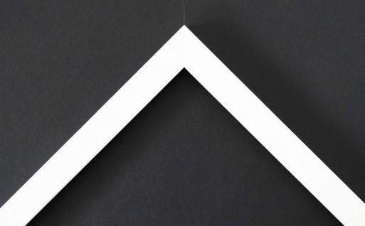 Bilderrahmen Rahmen Holz Modern Oldenburg in Weiss Struktur 1, 7 - Top Qualität
