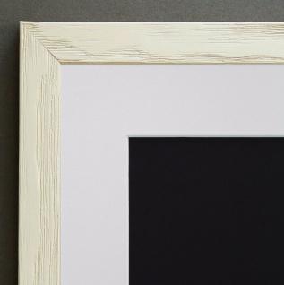 Bilderrahmen Siena in Beige Modern mit Passepartout in Weiss 2, 0 - alle Größen