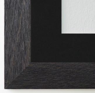 Bilderrahmen Florenz Schwarz Struk. mit Passepartout in Schwarz 4, 0 - jede Größe