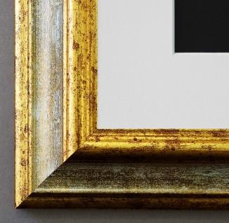 Bilderrahmen Bari in Grau Gold mit Passepartout in Weiss 4, 2 - NEU alle Größen