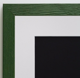 Bilderrahmen Siena in Grün Modern mit Passepartout in Weiss 2, 0 - alle Größen