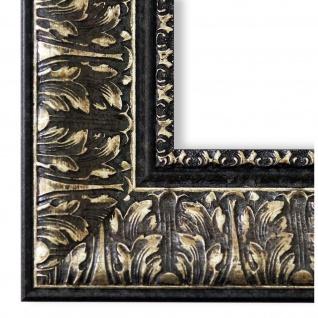 Bilderrahmen Schwarz Silber Barock Antik Vintage Ancona 7, 5 - NEU alle Größen